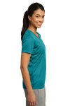 Tropic Blue Sport-Tek Ladies Competitor Tee as seen from the sleeveright