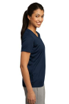 True Navy Sport-Tek Ladies Competitor Tee as seen from the sleeveright