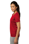 True Red Sport-Tek Ladies Competitor Tee as seen from the sleeveleft