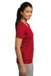 True Red Sport-Tek Ladies Competitor Tee as seen from the sleeveright