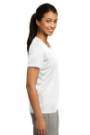 White Sport-Tek Ladies Competitor Tee as seen from the sleeveright