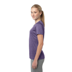 Purple Hthr Sport-Tek Ladies Heather Contender Scoop Neck Tee as seen from the sleeveright