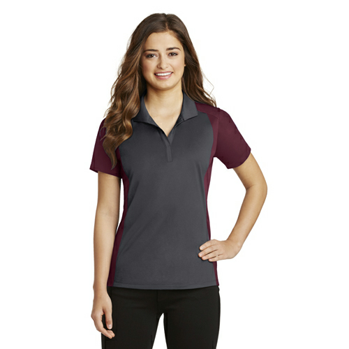 Sport-Tek Ladies Colorblock Micropique Sport-Wick Polo - Embroidered