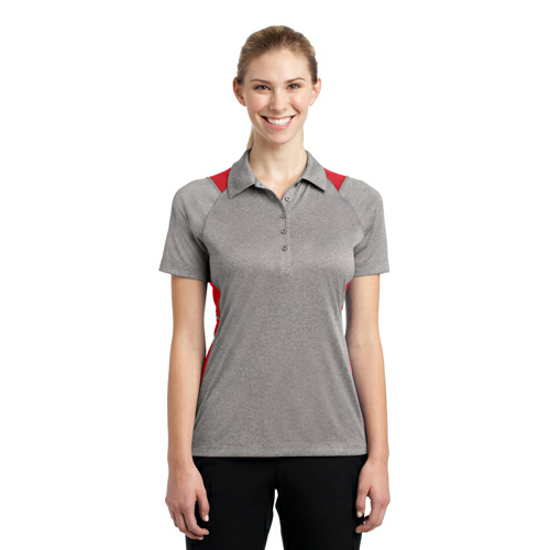 Sport-Tek Ladies Heather Colorblock Contender Polo - Embroidered