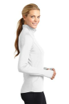 White Sport-Tek Ladies Sport-Wick Stretch 1/2-Zip Pullover as seen from the sleeveright
