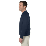 Navy White Microfiber Wind Shirt as seen from the sleeveright