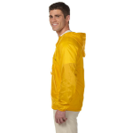 Sunray Yellow Packable Nylon Jacket as seen from the sleeveright