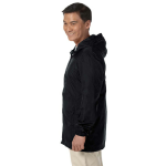 Black Men's Essential Rainwear as seen from the sleeveleft