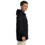Black Men's Essential Rainwear as seen from the sleeveright