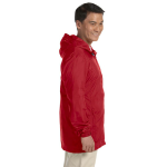 Red Men's Essential Rainwear as seen from the sleeveright