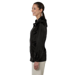Black Ladies' Essential Rainwear as seen from the sleeveleft