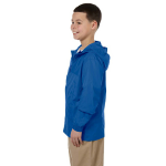 Cobalt Blue Youth Essential Rainwear as seen from the sleeveright