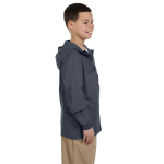 Graphite Youth Essential Rainwear as seen from the sleeveleft