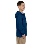 New Navy Youth Essential Rainwear as seen from the sleeveleft
