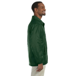 Dark Green Nylon Staff Jacket as seen from the sleeveright