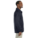 Navy Nylon Staff Jacket as seen from the sleeveright