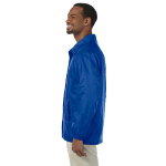 True Royal Nylon Staff Jacket as seen from the sleeveleft