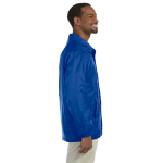 True Royal Nylon Staff Jacket as seen from the sleeveright