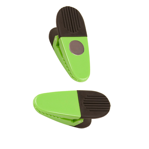 Lime Green Jumbo Magnetic Memo Clip as seen from the front