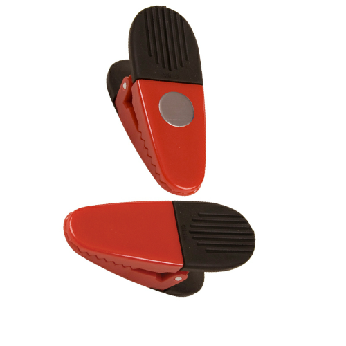 Red Jumbo Magnetic Memo Clip as seen from the front
