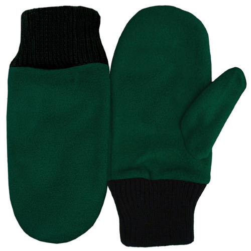 Green Mascot Mittens as seen from the front