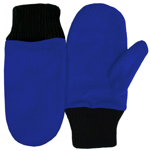 Royal Fleece Mittens as seen from the front