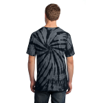 Black Port & Company Essential Tie-Dye Tee as seen from the back