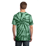Forest Green Port & Company Essential Tie-Dye Tee as seen from the back