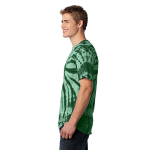Forest Green Port & Company Essential Tie-Dye Tee as seen from the sleeveleft