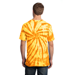 Gold Port & Company Essential Tie-Dye Tee as seen from the back