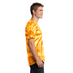 Gold Port & Company Essential Tie-Dye Tee as seen from the sleeveright
