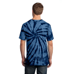Navy Port & Company Essential Tie-Dye Tee as seen from the back