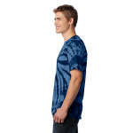 Navy Port & Company Essential Tie-Dye Tee as seen from the sleeveleft