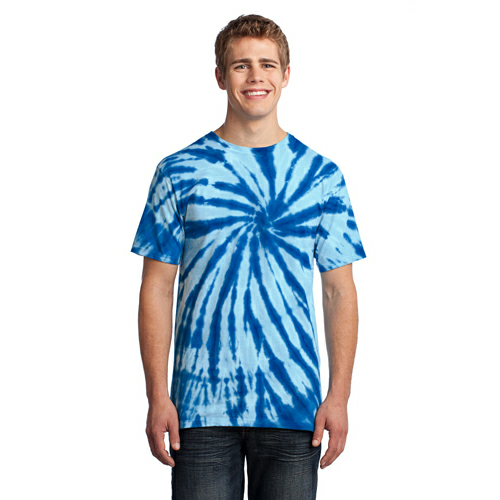 Royal Port & Company Essential Tie-Dye Tee as seen from the front