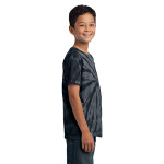 Black Port & Company Youth Essential Tie-Dye Tee as seen from the sleeveright