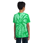 Kelly Port & Company Youth Essential Tie-Dye Tee as seen from the back