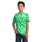 Kelly Port & Company Youth Essential Tie-Dye Tee as seen from the front