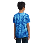 Royal Port & Company Youth Essential Tie-Dye Tee as seen from the back