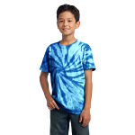 Royal Port & Company Youth Essential Tie-Dye Tee as seen from the front