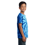 Royal Port & Company Youth Essential Tie-Dye Tee as seen from the sleeveright