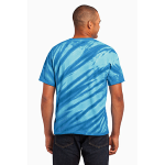 Royal Port & Company Essential Tiger Stripe Tie-Dye Tee as seen from the back