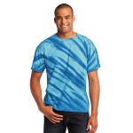 Royal Port & Company Essential Tiger Stripe Tie-Dye Tee as seen from the front