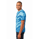 Royal Port & Company Essential Tiger Stripe Tie-Dye Tee as seen from the sleeveleft