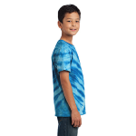 Royal Port & Company Youth Essential Tiger Stripe Tie-Dye Tee as seen from the sleeveright