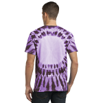 Purple Port & Company -Essential Window Tie-Dye Tee as seen from the back