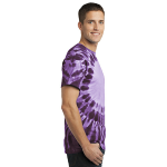Purple Port & Company -Essential Window Tie-Dye Tee as seen from the sleeveright