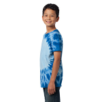 Royal Port & Company Youth Essential Window Tie-Dye Tee as seen from the sleeveleft