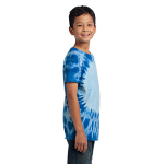 Royal Port & Company Youth Essential Window Tie-Dye Tee as seen from the sleeveright