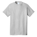 Ash Port & Company 5.4-oz 100% Cotton T-Shirt as seen from the front
