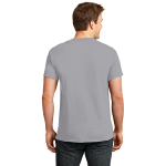 Ath Heather Port & Company 5.4-oz 100% Cotton T-Shirt as seen from the back